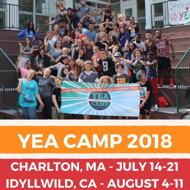 YEA Camp dates 2018